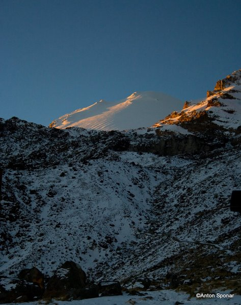 First light on Pico de Orizaba.  It's going to be a good day.