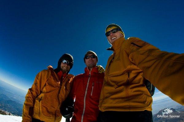 Group Summit Shot.  Dave, Anton and Jordan.